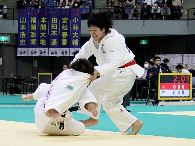 女子78kg級 3位決定戦 堀歩未vs高山莉加