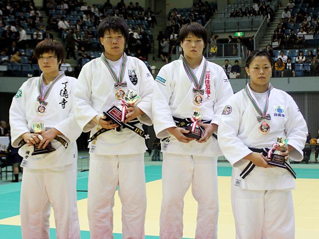 女子78kg級表彰式