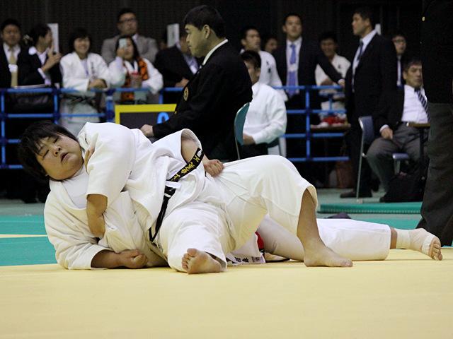 女子78kg超級 準決勝戦 稲森奈見vs井上愛美�A