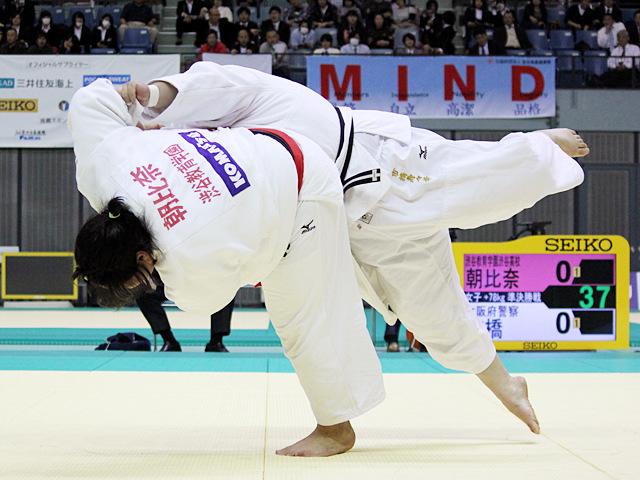 女子78kg超級 準決勝戦 朝比奈沙羅vs市橋寿々華