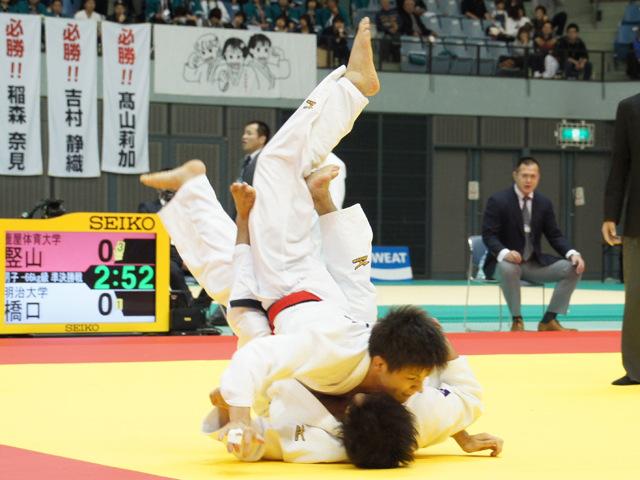 男子66kg級 準決勝戦 竪山将 vs 橋口祐葵