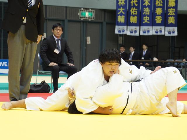 女子78kg超級 準決勝戦 朝比奈沙羅 vs 市橋寿々華