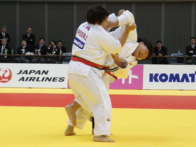 女子78kg超級 決勝戦 朝比奈沙羅 vs 稲森奈見�A