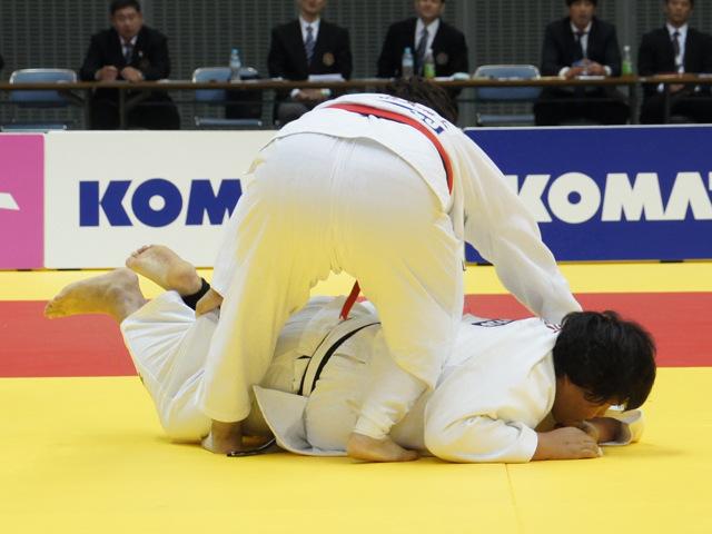 女子78kg超級 決勝戦 朝比奈沙羅 vs 稲森奈見�B