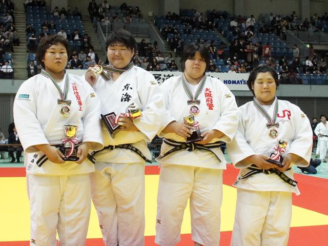 女子78kg超級表彰式