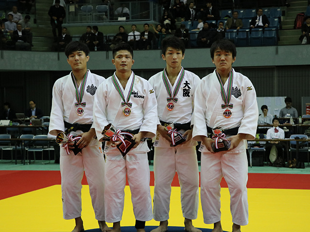 男子66kg級表彰式