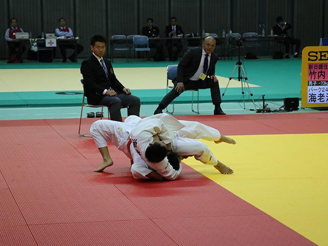 男子73kg級 3回戦 竹内信康 vs 海老沼匡�A