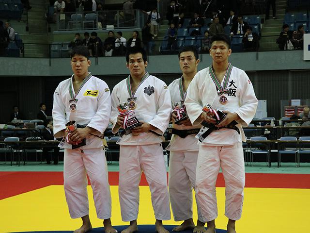 男子81kg級表彰式