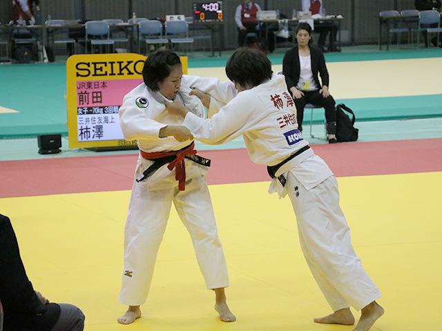 女子70kg級 3回戦 前田奈恵子 vs 柿澤史歩�@