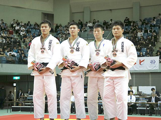 男子100kg級表彰式
