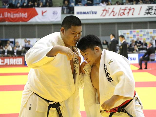 男子100kg超級 2回戦 中元岳 vs 斉藤立�A