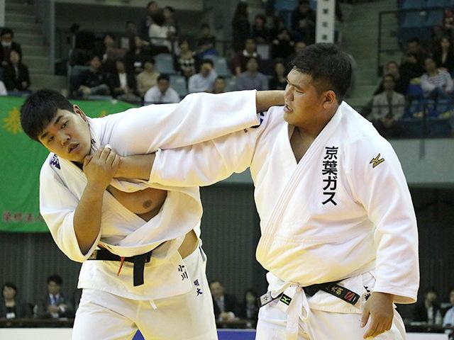 男子100kg超級 決勝戦 上川大樹 vs 小川雄勢�@