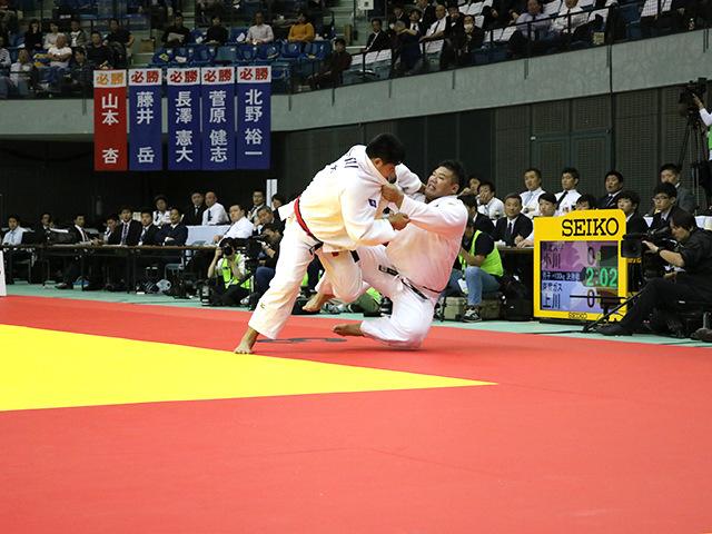 男子100kg超級 決勝戦 上川大樹 vs 小川雄勢�A