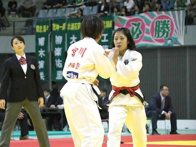 女子52kg級 準決勝戦 立川莉奈 vs 宮川拓美�@