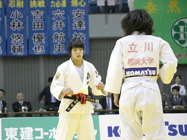 女子52kg級 決勝戦 阿部詩 vs 立川莉奈�@