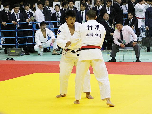 男子90kg級 3回戦 村尾三四郎 vs 加藤博剛