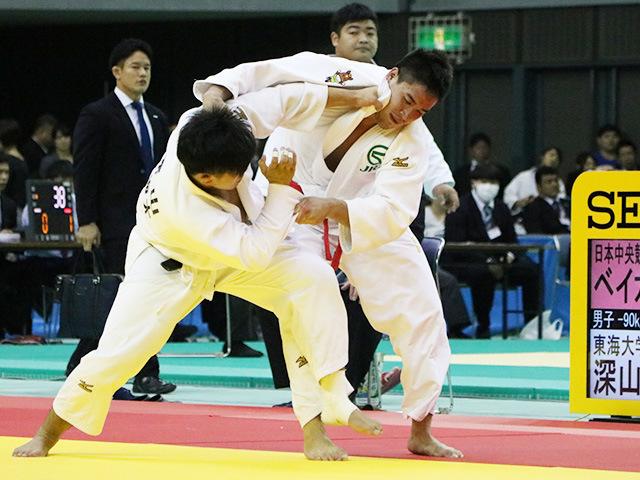 男子90kg級 準決勝戦 ベイカー茉秋 vs 深山将剛