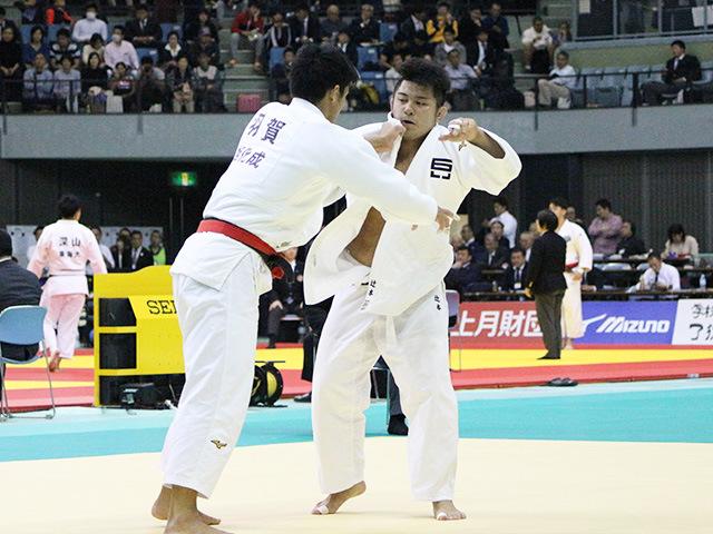 男子100kg級 2回戦 羽賀龍之介 vs 辻本拓記