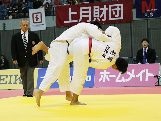 男子100kg級 決勝戦 羽賀龍之介 vs 熊代佑輔�@