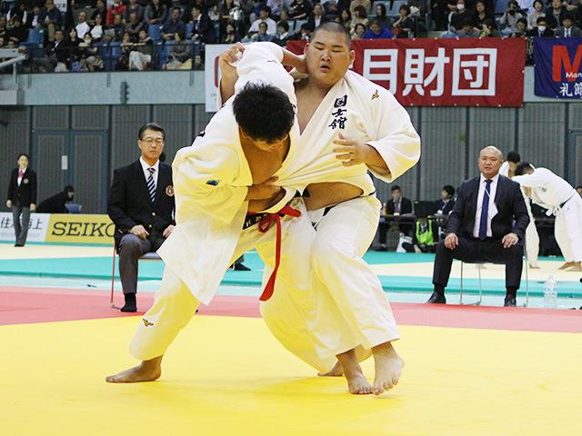 男子100kg超級 1回戦 上田轄麻 vs 斎藤立
