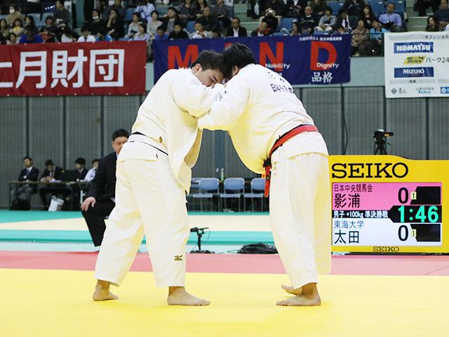 男子100kg超級 準決勝戦 影浦心 vs 太田彪雅
