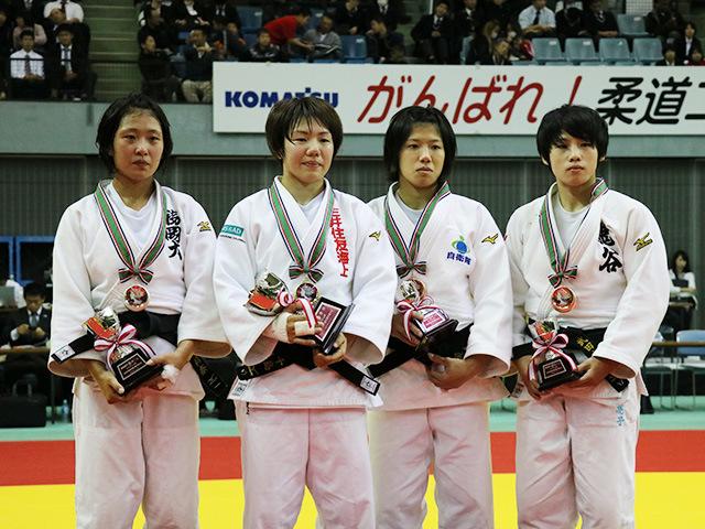 女子52kg級 表彰式