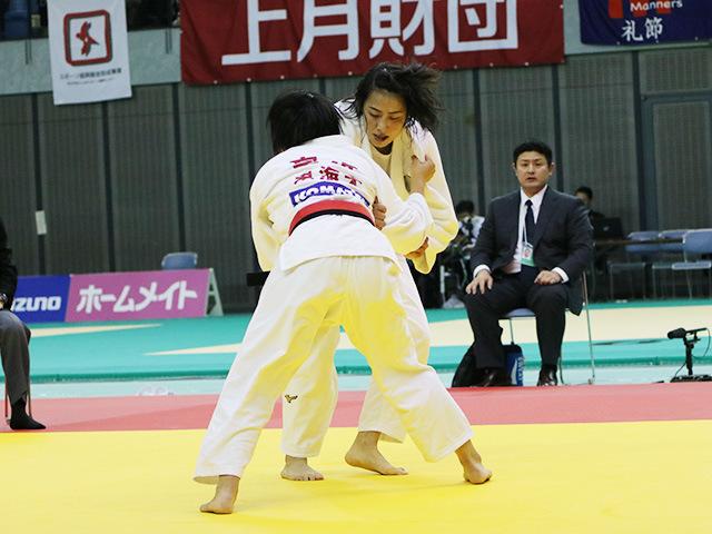 女子57kg級 準決勝戦 富沢佳奈 vs 石川慈