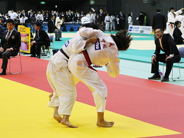 女子63kg級 3回戦 結城彩乃 vs 瀬戸口栞南