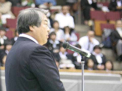 上村春樹全柔連会長の挨拶