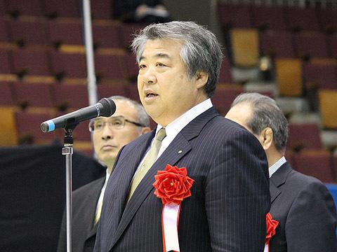 全日本柔道連盟上村春樹会長の挨拶
