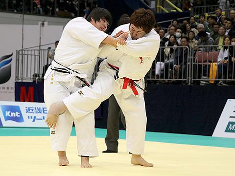 平成29年選抜体重別 女子78kg超級 決勝 稲森奈見 vs 素根輝
