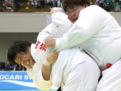 2018年選抜体重別 女子78kg超級 決勝 素根輝 vs 朝比奈沙羅