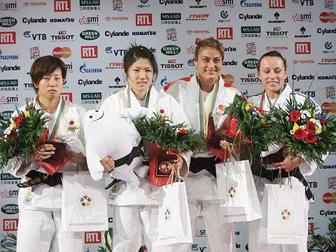 女子52kg級表彰式