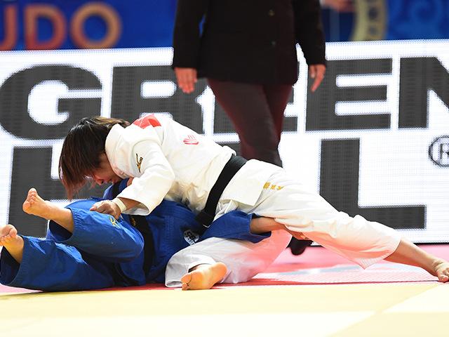 2015年アスタナ世界柔道選手権大会/国別団体戦 女子個人48kg級 3位決定戦 近藤亜美 vs N.BRIGIDA