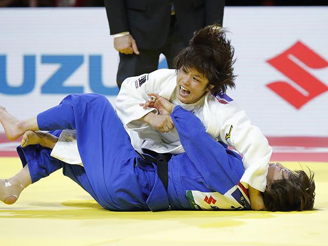 女子52kg級 決勝 志々目愛 vs 角田夏実