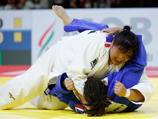 女子78kg超級 準決勝 朝比奈 沙羅 vs K.SAYIT