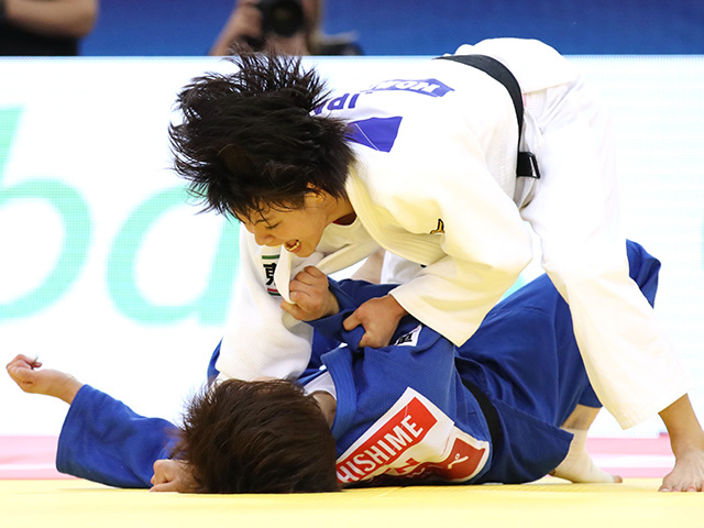 女子52kg級 決勝 阿部詩 vs 志々目愛