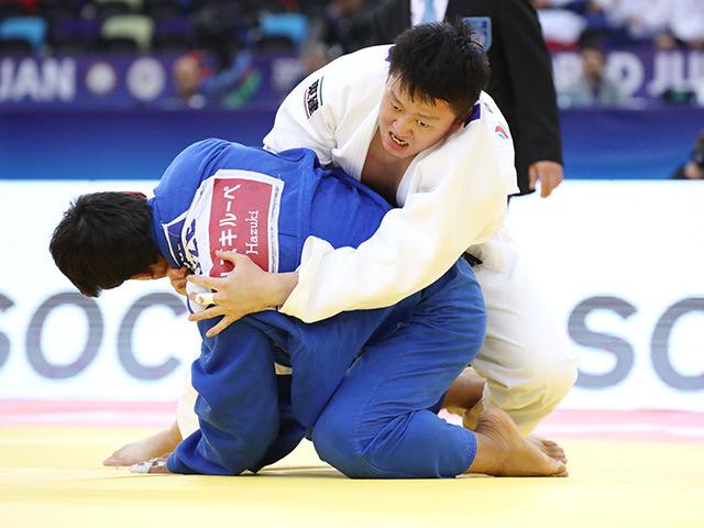 男子100kg超級 3位決定戦 原沢久喜 vs B.OLTIBOEV