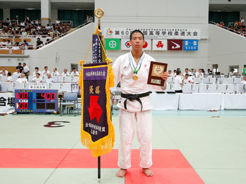 優勝した永瀬貴規選手(長崎日本大学高校)