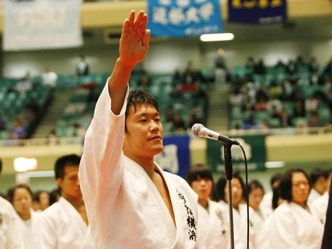 選手宣誓 宮崎賢司選手(桐蔭横浜大学)