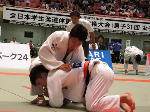 男子66kg級準決勝 ��上智史−徳田槙之介�@