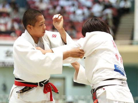 女子70kg級準決勝 高橋ルイ−唐鎌千鶴�@