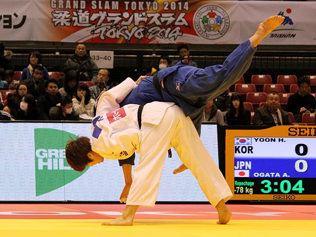女子78kg級 敗者復活戦 緒方亜香里vsH.YOON