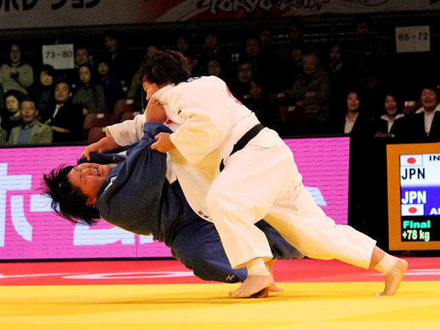 女子78kg超級 決勝 稲森奈見vs朝比奈沙羅