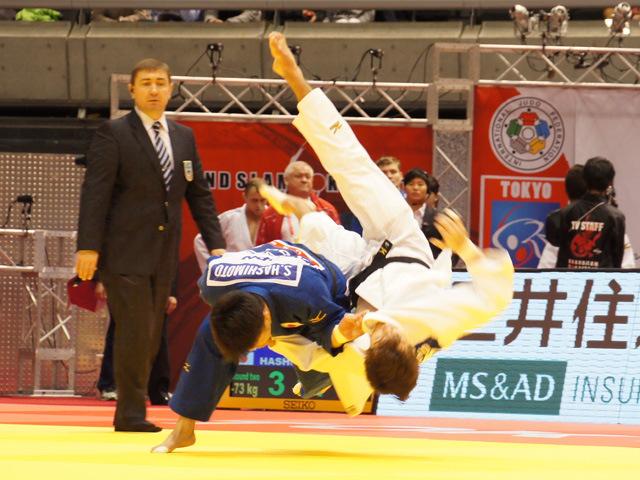 男子73kg級 2回戦 橋本壮市 vs E.BRIAND