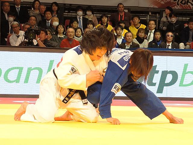 柔道グランドスラム東京2015 女子48kg級 決勝 近藤亜美 vs 浅見八瑠奈�A