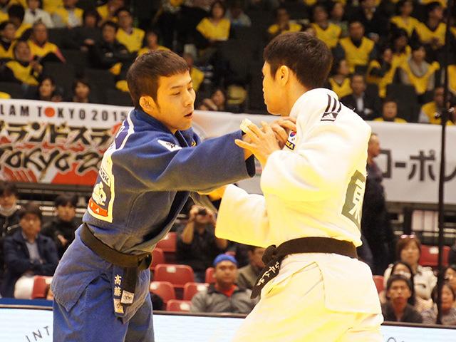 柔道グランドスラム東京2015 男子60kg級 準決勝 高藤直寿 vs W.KIM�@