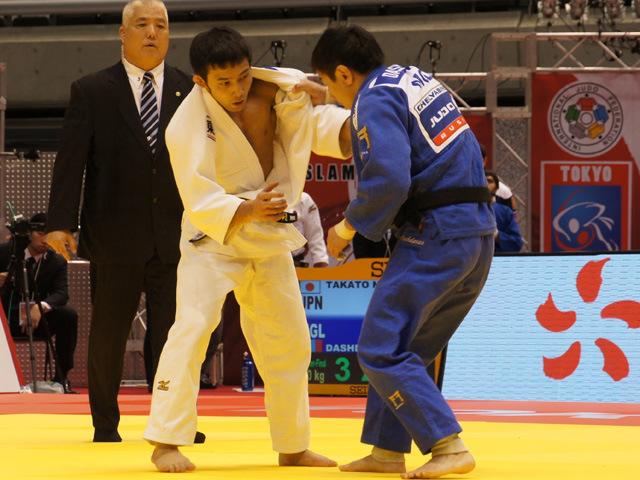 柔道グランドスラム東京2015 男子60kg級 準々決勝 高藤直寿 vs A.DASHDAVAA