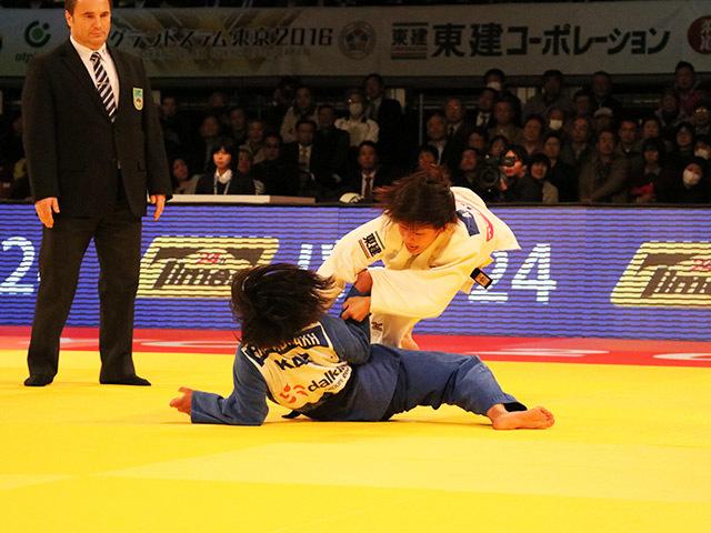 女子48kg級 3位決定戦 近藤亜美 vs O.GALBADRAKH