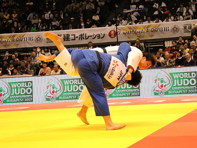 男子100kg超級 準決勝戦 影浦心 vs 七戸龍